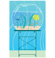 Aquarium with small fishes vector image vector image