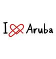 aruba love icon vector image vector image