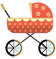 baby pram icon flat isolated vector image