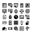 banking and finance line icons 3 vector image vector image