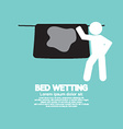 Bed Wetting Symbol vector image
