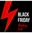 Black friday shocking sale card banner template vector image vector image