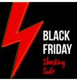 Black friday shocking sale card banner template vector image vector image
