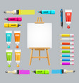 board easel blank empty and painting accessories vector image vector image