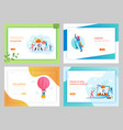 business startup creative idea landing page vector image vector image