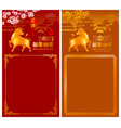 chinese new year year ox banners templates vector image vector image