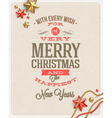 Christmas type design and holidays decoration vector image vector image