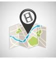 cinema map pin pointer design vector image vector image