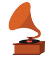 clipart brown record player vector image vector image