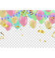 colorful balloons happy birthday on background vector image