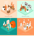 cooking isometric design concept vector image vector image