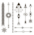 decorative arrows geometric design elements vector image