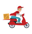 delivery on scooter icon image vector image vector image
