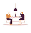family having dinner - flat design style colorful vector image vector image