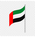 flag of united arab emirates isometric icon vector image