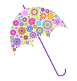 floral umbrella on white background vector image vector image