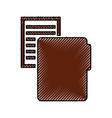 folder file with paper isolated icon vector image vector image