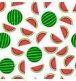 fresh slaced ripe watermelon vector image vector image