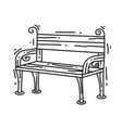 gardening bench icon hand drawn icon set outline vector image vector image