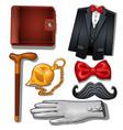 gentleman aristocrat clothing and accessories vector image vector image