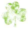 grunge clover leaf vector image vector image