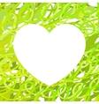Hand drawn Heart symbol calligraphy Green vector image vector image
