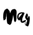 Hand drawn lettering element months set