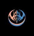 knight mask black background vector image