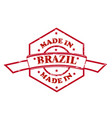 made in brazil red seal icon vector image