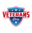 modern design veterans day concept background vector image vector image
