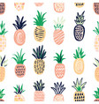 modern seamless pattern with pineapples of vector image vector image