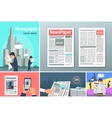 Newspapers News is Available 24 h Concept Banners vector image vector image