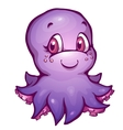 octopus in cartoon style vector image vector image