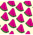 pieces of watermelon vector image vector image