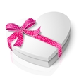 realistic blank heart shape box with pink vector image vector image