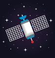 satellite wireless technology communication world vector image