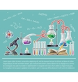 Science Colored Poster vector image vector image