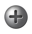 screw head symbol icon design vector image