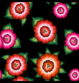 seamless mexican floral embroidery ethnic pattern vector image vector image