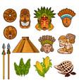 set ethnic ancient cultural elements vector image vector image