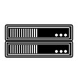 silhouette internet router technology and digital vector image vector image