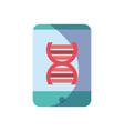 smartphone dna science molecule vector image