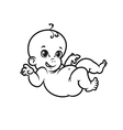 smiling newborn baby vector image