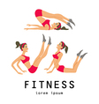 stretching exercises related jogging performed vector image vector image