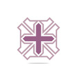 Symbol hospital plus medical icon abst vector image