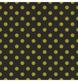 Tile pattern green polka dots on black background vector image vector image