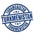 turkmenistan blue round grunge stamp vector image vector image