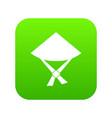 vietnamese hat icon digital green vector image vector image