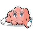 waiting brain character cartoon mascot vector image vector image