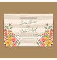 wedding invitation flowers and pink stripes vector image vector image